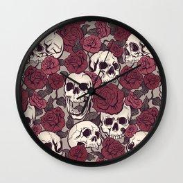 Rock and Roses Wall Clock