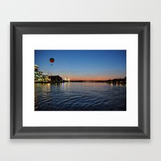 Downtown Disney Sunset I Framed Art Print