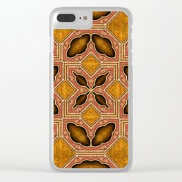 Victorian Art Deco Medieval Pattern SB35 Clear iPhone Case