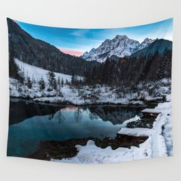 Zelenci springs at dusk Wall Tapestry