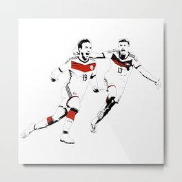No Gotze, no party Metal Print