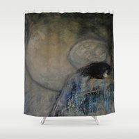 imagerybydianna Shower Curtains featuring dreaming in tennyson's tower by Imagery by dianna