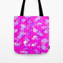 BRICK WALL SMUDGED (Purples, Violets & Fuchsias) Tote Bag