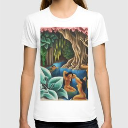 Bathing in the River by Miguel Covarrubias T-shirt