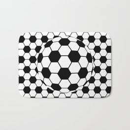 Black and White 3D Ball pattern deign Bath Mat
