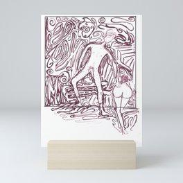 "riendo says ""fuck me"" Mini Art Print"