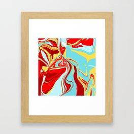 Acrylic Flow #1707 - Vainglorious Framed Art Print