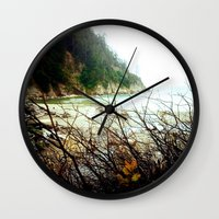 oregon Wall Clocks featuring Oregon by Danielle DePalma