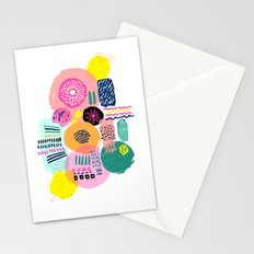 Bright Circles - abstract collage illustration Stationery Cards