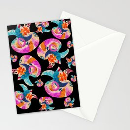 pattern with embroidered lilies Stationery Cards