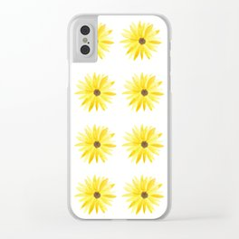 Sunflowers Clear iPhone Case