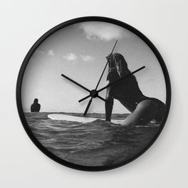 Surfer girl Wall Clock