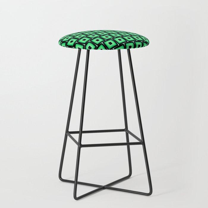 Mod Green Squares Bar Stool