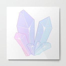 Crystal Fractures Transparent Metal Print
