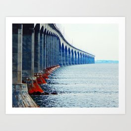 Confederation Bridge New-Brunswick Art Print