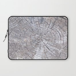 Ancient Tree Stump Grey With Age, Very Old Tree Stump Laptop Sleeve