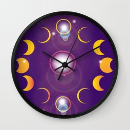 Shadows Across the Firmament Wall Clock
