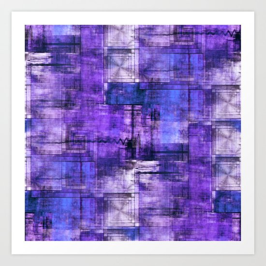 Purple Noise Art Print