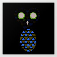 Owls Just Want to Have Fun No.5 Art Print