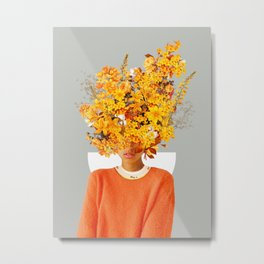 I Saw You Flower in the reflection of my Soul Metal Print