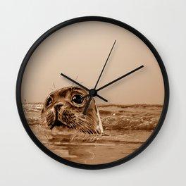 The SEAL - sepia 17 Wall Clock