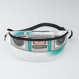 Never Forget Retro Vintage Cassette Player Boom Box Graphic Fanny Pack