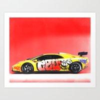 lamborghini Art Prints featuring Lamborghini Diablo by Sushilove