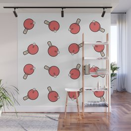 Table Tennis Paddles Wall Mural