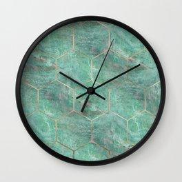 Alfetta Verde hexagons Wall Clock