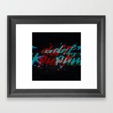 Daft Punk Glitch Framed Art Print