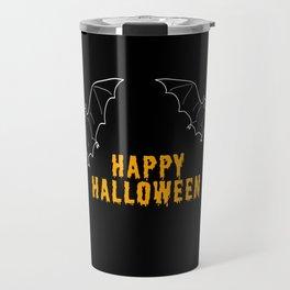 Happy Halloween Bat Travel Mug