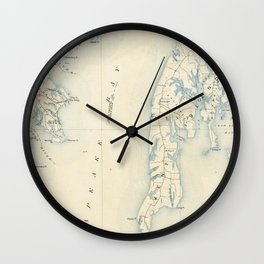 Vintage Annapolis MD & Chesapeake Bay Map (1902) Wall Clock
