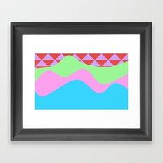 Tribal Waves Framed Art Print
