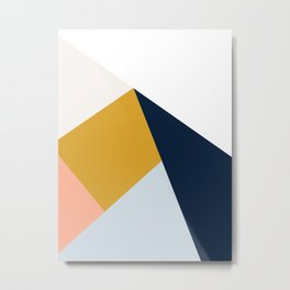 Modern Vintage Minimal Inspired Geometric Colorfield Art Print Metal Print