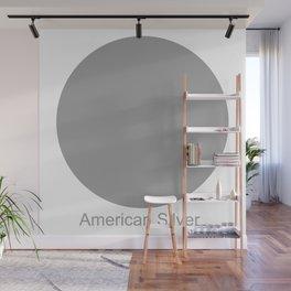 American Silver Wall Mural