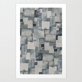 Pave Gray Art Print