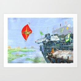 Sky Yacht Race Art Print