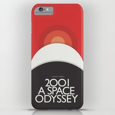 2001 A Space Odyssey - Stanley Kubrick movie Poster, Red Version iPhone 6 Plus Slim Case