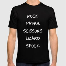 Rock Paper Scissors Mens Fitted Tee MEDIUM Black