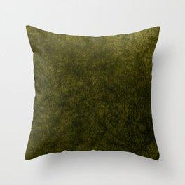 olive green velvet | texture Throw Pillow