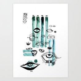 E Y E S  P A R T Y Art Print