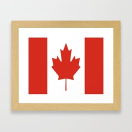 flag of canada 1-canadian,canadien,canadiense,ottawa,toronto,montreal. Framed Art Print