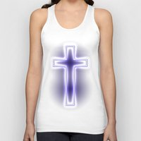 metallic Tank Tops featuring Metallic Cross by Alli Vanes