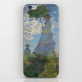The Walk, Woman with a Parasol by Claude Monet iPhone Skin
