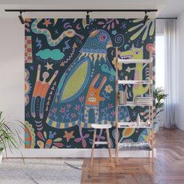 Bird Talk Wall Mural