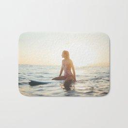 Woman surfer light Bath Mat