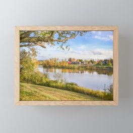 Fall Time on the Lake Framed Mini Art Print
