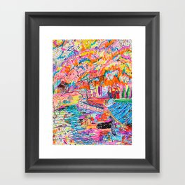 на Неве Framed Art Print