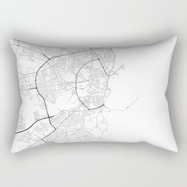 Minimal City Maps - Map Of Aarhus, Denmark. Rectangular Pillow