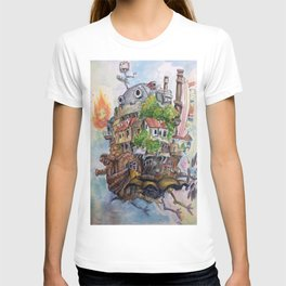 Howls Moving Castle Painting 2 T-shirt